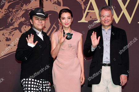Li Bing Bing, Ang Lee, Kevin Tsai Taiwanese director Ang Lee, right, Chinese actress Li Bing Bing, center, and Taiwanese host Kevin Tsai smile during a media event for the 50th Golden Horse Awards in Taipei, Taiwan, . Academy Award-winning director Ang Lee believes the modest clout of the premier awards for Chinese-language films will grow as the market for such films increases