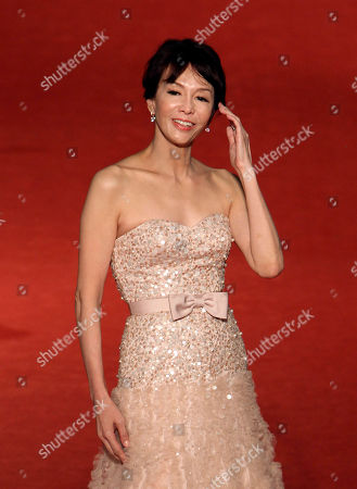 Stock Image of Carol Cheng Hong Kong actress Carol Cheng poses on the red carpet at the 50th Golden Horse Awards in Taipei, Taiwan, . Cheng is a guest at this year's Golden Horse Awards, one of the Chinese-language film industry's biggest annual events