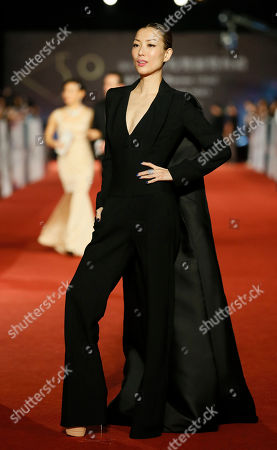 """Sammi Cheng Hong Kong actress Sammi Cheng arrives at the 50th Golden Horse Awards in Taipei, Taiwan, . Cheng is nominated as Best Leading Actress for the film """"Blind Detective"""" at this year's Golden Horse Awards - one of the Chinese-language film industry's biggest annual events"""