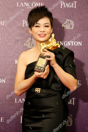 Yeo Yann Yann Singapore's actress Yeo Yann Yann, holding her trophy, poses for media for Best Supporting Actress at the 50th Golden Horse Awards in Taipei, Taiwan