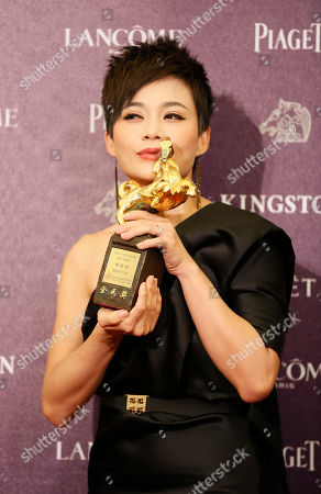 Yeo Yann Yann Singapore's actress Yeo Yann Yann holding a trophy, poses for media for Best Supporting Actress at the 50th Golden Horse Awards in Taipei, Taiwan