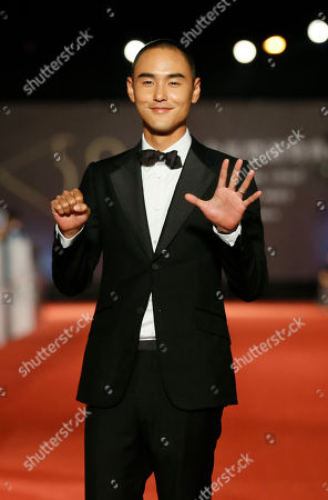 Stock Image of Ethan Juan Taiwanese actor Ethan Juan poses on the red carpet at the 50th Golden Horse Awards in Taipei, Taiwan, . Juan is a guest at this year's Golden Horse Awards, one of the Chinese-language film industry's biggest annual events