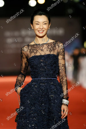Stock Photo of Maggie Cheung Hong Kong actress Maggie Cheung poses on the red carpet at the 50th Golden Horse Awards in Taipei, Taiwan, . Cheung is a guest at this year's Golden Horse Awards, one of the Chinese-language film industry's biggest annual events