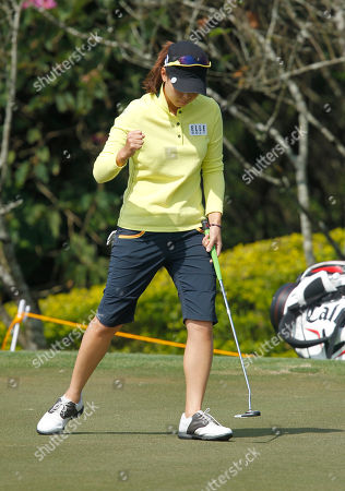 Sun Young Yoo Sun Young Yoo of South Korea reacts to sinking her putt on the 3rd hole green during the last day of the LPGA Taiwan Championship tournament at the Sunrise Golf & Country Club, in Yangmei, northern Taiwan