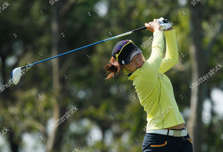 Sun Young Yoo Sun Young Yoo of South Korea, tees off the 3rd hole during the last day of the LPGA Taiwan Championship tournament at the Sunrise Golf & Country Club, in Yangmei, northern Taiwan