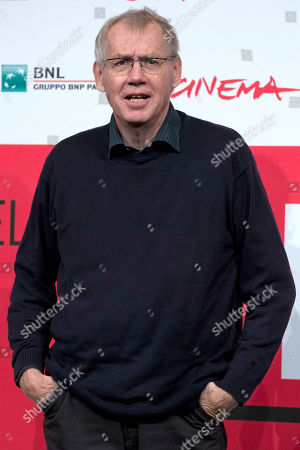 Stock Image of Director Nils Malmros poses during the photo call of the movie 'Sorrow and joy', at the 8th edition of the Rome International Film Festival, in Rome