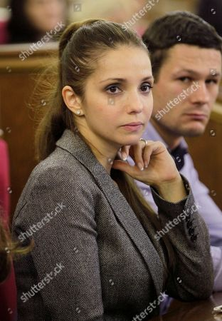 Eugenia Tymoshenko Eugenia Tymoshenko, daughter of jailed former Ukrainian Prime Minister Yulia Tymoshenko attend a session at the parliament in Kiev, Ukraine, . A vote on various bills that would allow former Ukrainian Prime Minister Yulia Tymoshenko to go to Germany from prison is scheduled for Thursday