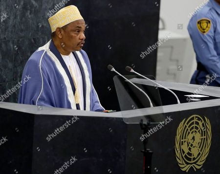 Ikililou Dhoinine, New York Union of Comoros President Ikililou Dhoinine addresses the 68th session of the United Nations General Assembly, at U.N. headquarters