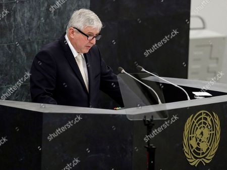 Jiri Rusnok, New York Czech Republic's Prime Minister Jiri Rusnok addresses the 68th session of the United Nations General Assembly, at U.N. headquarters
