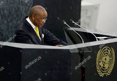Thomas Motsoahae Thabane, New York Lesotho Prime Minister Thomas Motsoahae Thabane addresses the 68th session of the United Nations General Assembly, at U.N. headquarters