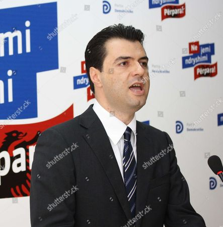 Lulzim Basha speaks at a news conference in Tirana after he was elected as new leader of the main opposition center-right Albanian Democratic Party . The 39-year-old, who is mayor of the capital, Tirana, replaces outgoing Prime Minister Sali Berisha, who resigned from the post after conceding defeat in the June 23 national elections to the rival Socialist Party of Edi Rama, who is expected to become prime minister in September