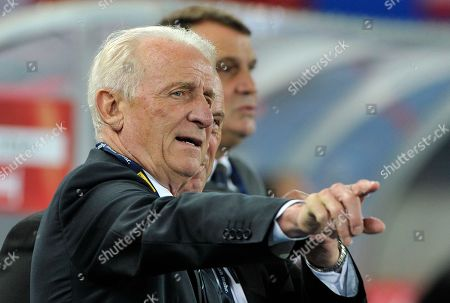 Giovanni Trapattoni Ireland's head coach Giovanni Trapattoni of Italy reacts during the World Cup 2014 qualification group C soccer match between Austria and Ireland in Vienna, Austria, on