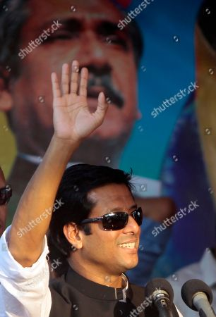 Sajeeb Wazed Joy, 42, the son of Bangladeshi Prime Minister Sheikh Hasina, waves to the crowd at an election campaign rally in Gazipur, near Dhaka, Bangladesh. Political observers in Bangladesh say that given a few years Joy or Tarique Rahman, the 45-year-old son of opposition leader Khaleda Zia, could become prime minister of Bangladesh, which has been ruled by their two families since the country's 1971 independence from Pakistan. Joy and Rahman have emerged as the country's most powerful political heirs