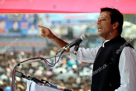 Sajeeb Wazed Joy, 42, the son of Bangladeshi Prime Minister Sheikh Hasina, speaks at an election campaign rally in Tongi, near Dhaka, Bangladesh. Political observers in Bangladesh say that given a few years Joy or Tarique Rahman, the 45-year-old son of opposition leader Khaleda Zia, could become prime minister of Bangladesh, which has been ruled by their two families since the country's 1971 independence from Pakistan. Joy and Rahman have emerged as the country's most powerful political heirs