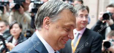 Petr Necas Hungary's Prime Minister Viktor Orban arrives for an EU summit in Brussels on . European Union leaders meet in Brussels ostensibly to agree on ways to find more jobs for the young, who've been disproportionately punished by years of crisis and recession
