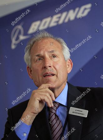 Jim McNerney; James McNerney Boeing Company chairman and chief executive officer Jim McNerney appears during a news conference, in Le Bourget, France. Boeing on said McNerney is stepping down as CEO after 10 years. The aircraft maker says President and Chief Operating Officer Dennis Muilenburg will become its new CEO on July 1