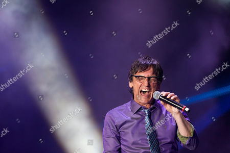 Stock Photo of Paulo Miklos Paulo Miklos performs on the 'Tribute to Cazuza' show during the Rock in Rio music festival in Rio de Janeiro, Brazil