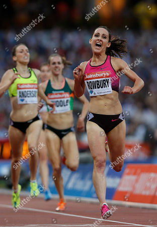 Shannon Rowbury Shannon Rowbury of the United States, right, celebrates her win in the women's 3000m during the Diamond League athletics meet at The Stadium in Queen Elizabeth Olympic Park, London, . The athletics meet marks the anniversary of the London 2012 Olympic Games