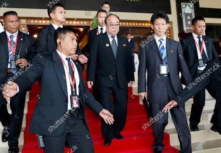 Pak Ui Chun North Korean Foreign Minister Pak Ui Chun, center, is escorted by security guards as he leaves after a meeting at the ASEAN Foreign Ministers' Meeting in Bandar Seri Begawan, Brunei