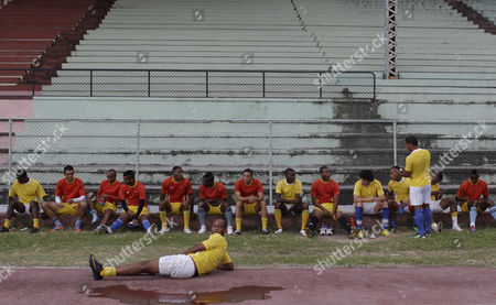 Ariel Martinez Cuba's midfielder Ariel Martinez, center front, looks over his shoulder as team players wait for the start of a training session at the Pedro Marrero stadium in Havana, Cuba. Cuba is part of the Group C that includes Costa Rica, Belize and the U.S. in the upcoming 2013 CONCACAF Gold Cup soccer competition kicking off at the Rose Bowl in Pasedena on July 7