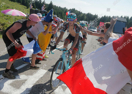 Andy Schleck of Luxembourg climbs during the 20th stage of the Tour de France cycling race over 125 kilometers (78.1 miles) with start in in Annecy and finish in Annecy-Semnoz, France
