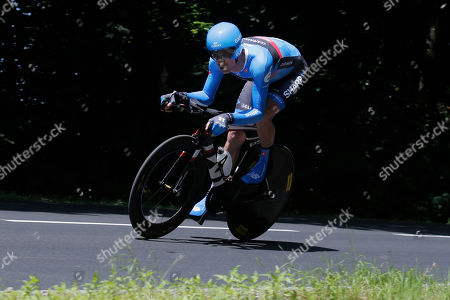 David Millar of Britain rides during the eleventh stage of the Tour de France cycling race, an individual time trial over 33 kilometers (20.6 miles) with start in in Avranches and finish in Mont-Saint-Michel, western France