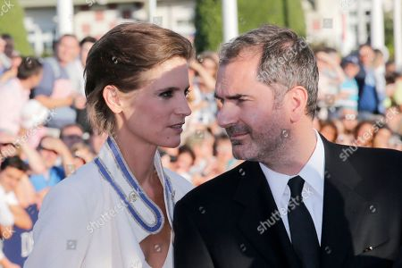 Xavier Giannoli, Helene Fillieres Jury members Helene Fillieres, left, and Xavier Giannoli arrives for the opening ceremony of the 39th American Film Festival, Friday, Aug. 30, 2013, in Deauville, Normandy, western France