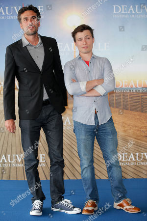 """Alexandre Moors, Ronnie Porto Director Alexandre Moors, left, and screenwriter Ronnie Porto pose during a photocall for """"Blue Caprice"""" at the 39th American Film Festival, Saturday, Aug. 31, 2013, in Deauville, Normandy, western France"""