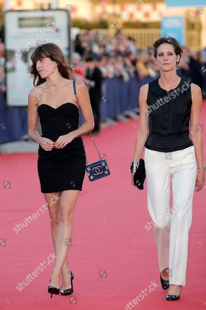 "Helene Fillieres, Lou Doillon Jury members actress Lou Doillon, left, and actress Helene Fillieres arrive for the screening of ""Blue Jasmine"" at the 39th American Film Festival, in Deauville, Normandy, western France"