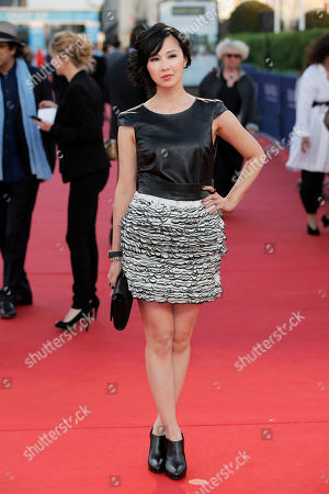 """Linh-Dan Pham Actress Linh-Dan Pham arrives for the screening of """"Blue Jasmine"""" at the 39th American Film Festival, in Deauville, Normandy, western France"""