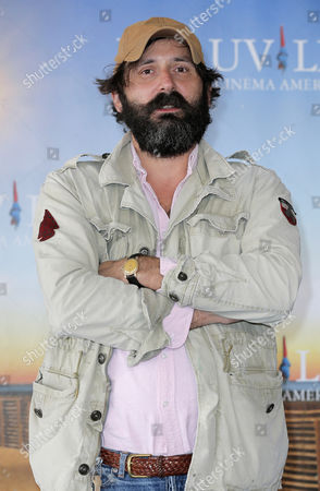 "Director Quentin Dupieux poses during a photocall for his film ""Wrong Cops"" at the 39th American Film Festival, in Deauville, Normandy, western France"