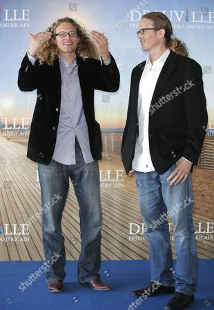 Noah Miller, Logan Miller Directors Noah, left, and Logan Miller pose during a photocall for their film 'Sherif Jackson' at the 39th American Film Festival in Deauville, Normandy, western France, Sunday, Sept. 1, 2013
