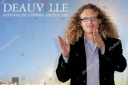 """Noah Miller Director Noah Miller poses during a photo call for the film """"Sherif Jackson"""" at the 39th American Film Festival, Sunday, Sept. 1, 2013, in Deauville, Normandy, western France"""