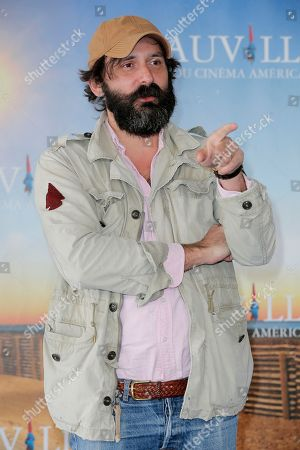 "Quentin Dupieux Director Quentin Dupieux poses during a photocall for his film ""Wrong Cops"" at the 39th American Film Festival, in Deauville, Normandy, western France"