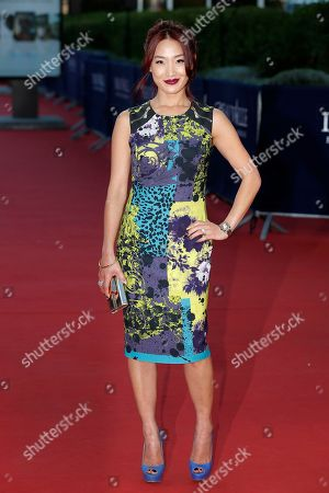 """Stock Image of Alice Kim Alice Kim, the wife of actor Nicolas Cage, arrives for the screening of the film """"Joe"""" at the 39th American Film Festival, in Deauville, Normandy, western France"""