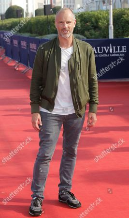 "Fredrik Bond Director Fredrik Bond poses as he arrives for the screening of his film ""The Necessary Death of Charlie Countryman"" at the 39th American Film Festival, in Deauville, Normandy, western France"