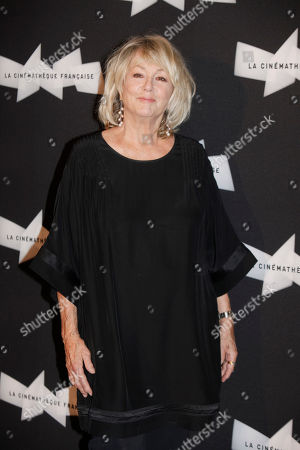 French actress Mylene Demongeot poses for photographers, during a retrospective of French actor Michel Piccoli's career, in Paris