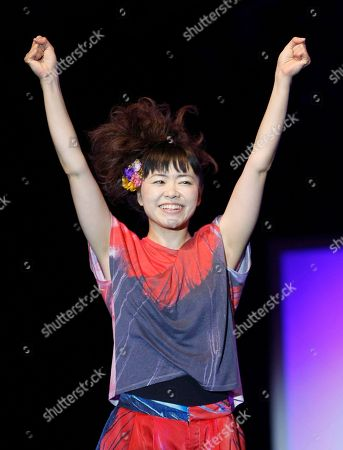 Hiromi Uehara Japanese jazz pianist Hiromi Uehara reacts after she performed with the Hiromi Trio Project, at the Five Continents Jazz Festival, in Marseille, southern France
