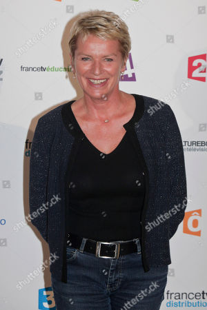 French TV host Elise Lucet poses during a photocall prior to the France Televisions new season press conference, in Paris