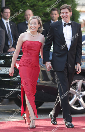 Kristina Schroeder German Family Minister Kristina Schroeder and her husband Ole Schroeder arrive at the opening of the Bayreuth Opera Festival in Bayreuth, southern Germany, on