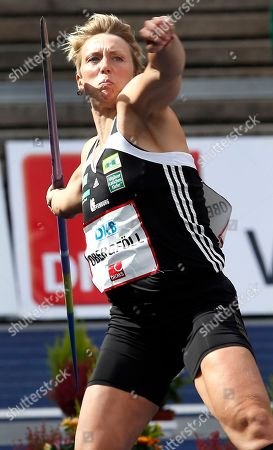 Christina Obergfoell from Germany throws the javelin at the ISTAF Athletics Meeting in Berlin, Germany