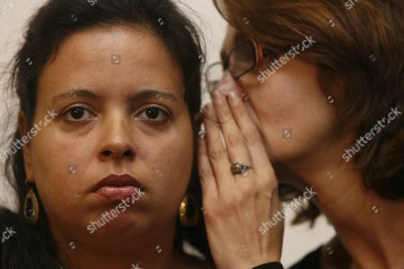 Patricia da Silva Armani, a relative of John Charles de Menezes, who was shot dead by Counter Terrorism Police in 2005, at a press conference held in response to the Independent Police Complaints Commission report which found that Assistant Commissioner Andy Hayman 'misled' the public
