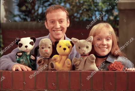 'Sooty Heights' -  Presenters Richard Cadell and Vicki Lee Taylor with Soo, Sweep, Sooty and Mikki.
