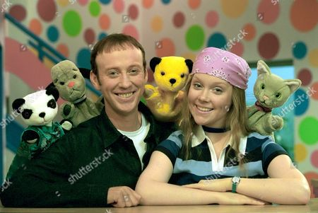 'Sooty Heights' -  Presenters Richard Cadell and Vicki Lee Taylor with Soo, Sweep, Sooty and Mikka