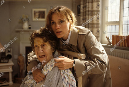 Stock Picture of Penny Downie and Constance Chapman seated in 'A Taste For Death'
