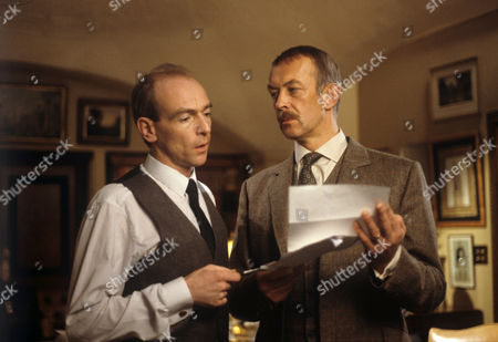 Stock Picture of Bosco Hogan (left) and Roy Marsden in 'A Taste For Death'