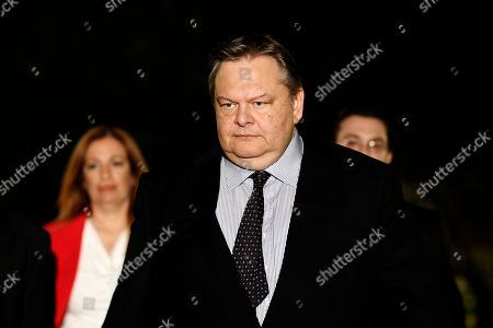 Evangelos Venizelos Socialist party leader Evangelos Venizelos leaves the Prime minister's office after a meeting with Antonis Samaras and leader of Democratic Left party Fotis Kouvelis, in Athens, . Greece's governing coalition parties failed to end a political crisis triggered by the closure of state broadcaster ERT, but said talks would continue Thursday to try and avoid a snap election. Conservative Prime Minister Antonis Samaras held his second meeting in three days Wednesday with coalition partners _ the Socialist Pasok and Democratic Left parties _ who oppose his decision to switch off ERT's signal and fire all its 2,700 employees