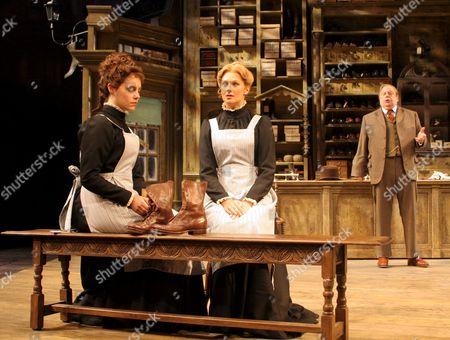 John Savident as Horatio Hobson, Annabel Scholey as Vickey Hobson and Katherine Kingsley as Alice Hobson