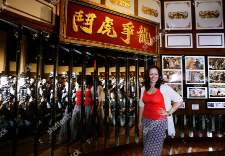 """Shannon Lee Shannon Lee, daughter of the late Kung Fu star Bruce Lee, poses at the Lee's memorial exhibition """"Bruce Lee: Kung Fu, Art, Life"""" at the Hong Kong Heritage Museum to mark the 40th anniversary of Lee's death. The exhibition introduces Lee's achievements and contributions to popular culture and highlight Bruce Lee from his early years in Hong Kong as a child actor and young student of Wing Chun kung fu to his life in US film industry"""
