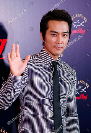 Song Seung-heon South Korean actor Song Seung-heon poses during a promotional event for Italian fashion brand Paul & Shark in Hong Kong